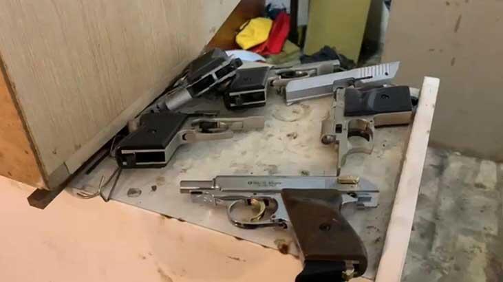 Ümraniye'de silah imalathanesine baskın kamerada