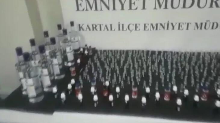 Kartal'da sahte içki operasyonu