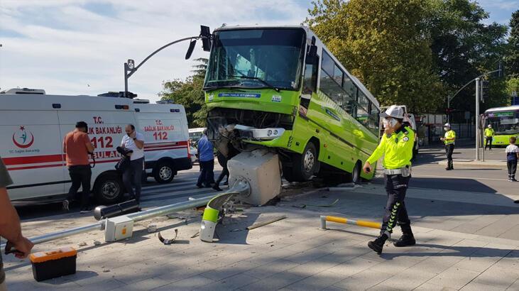İzmit'te halk otobüsü ile hafif ticari araç çarpıştı: 7 yaralı