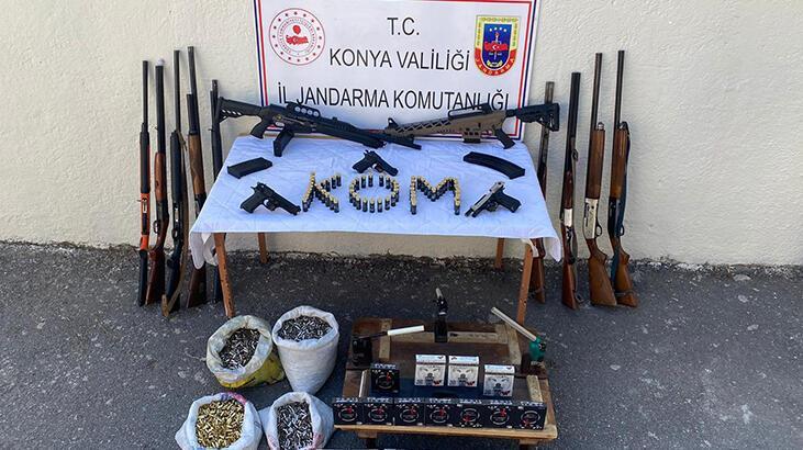 Konya'da kaçak silah operasyonu: 4 gözaltı