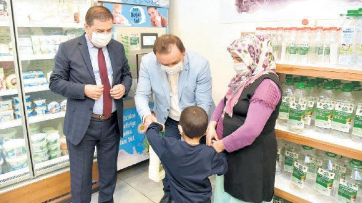 Milas Belediyesi'nden 'Süt Kardeşim' projesi