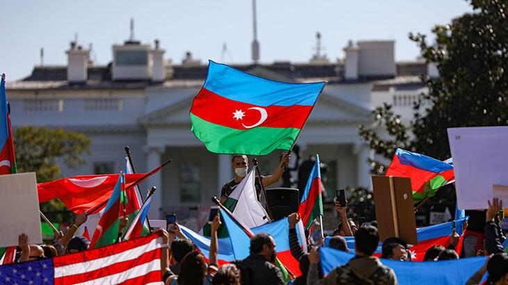 Beyaz Saray önünde Azerbaycan'a mitingi!