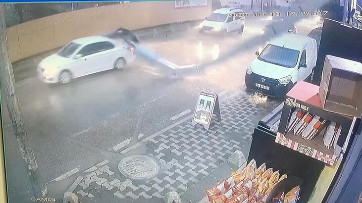 Ümraniye'de baca araçların üzerine düştü; Genç doktor ölümden döndü