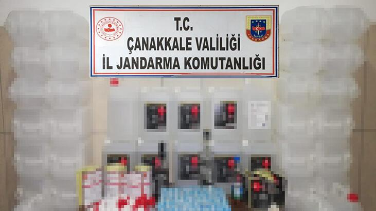 Çanakkale'de sahte alkol ürünlerini internetten satan 2 kişi yakalandı