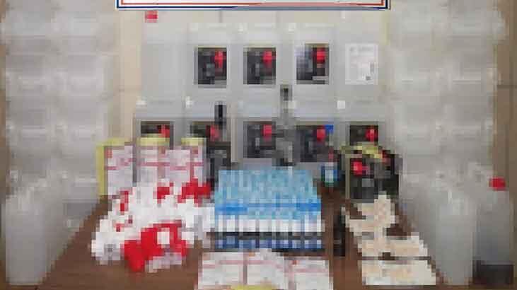 Sahte alkol ürünlerini internetten satan 2 kişi yakalandı!