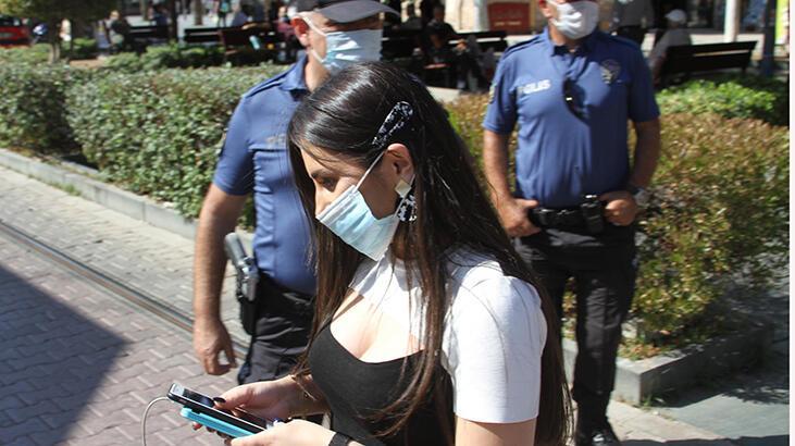 Maskesini takmayan gencin polise verdiği cevap 'pes' dedirtti