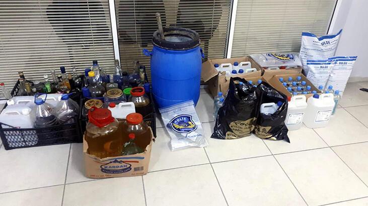 Foça'da sahte içki operasyonu: 9 gözaltı