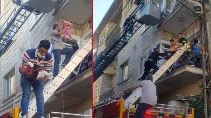 Binanın bodrum katında yangın çıktı! 10 kişi hastaneye kaldırıldı