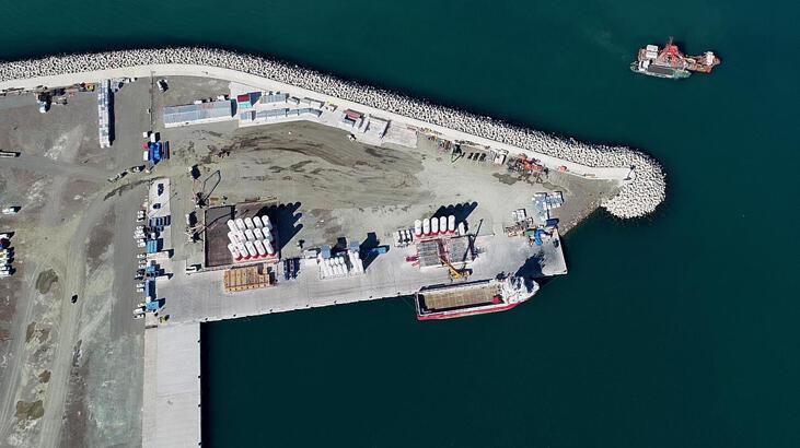 Doğal gaz rezervinin karadaki üssü Filyos limanında hummalı çalışma