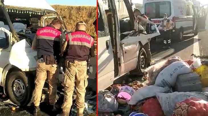 Tarım işçilerini taşıyan minibüs TIR'la çarpıştı! Çok sayıda yaralı var