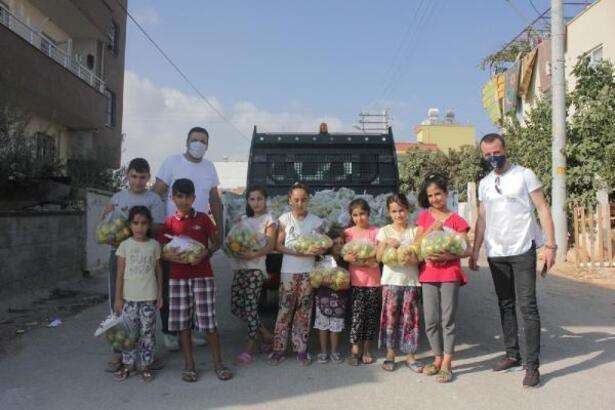 Yenişehir Belediyesi 20 ton narenciye ürünü dağıttı