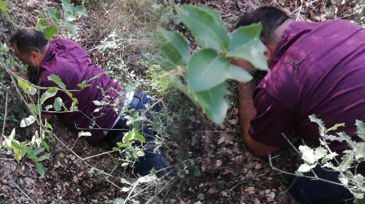 1 yıldır saklandığı ormanda yakalandı