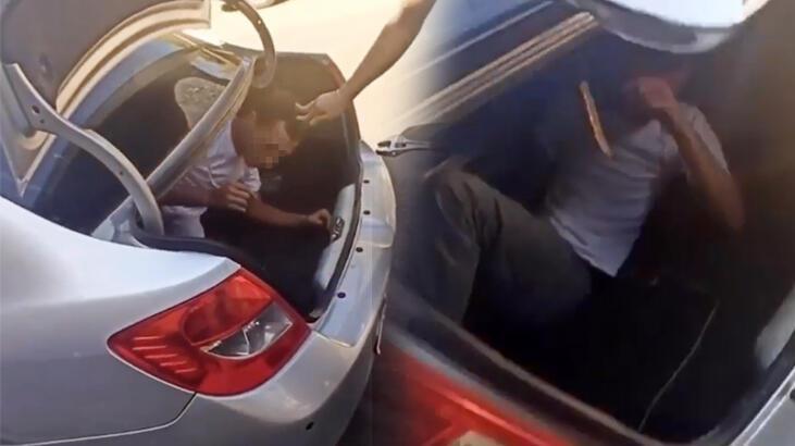 Yakaladıkları hırsızı otomobilin bagajına hapsettiler