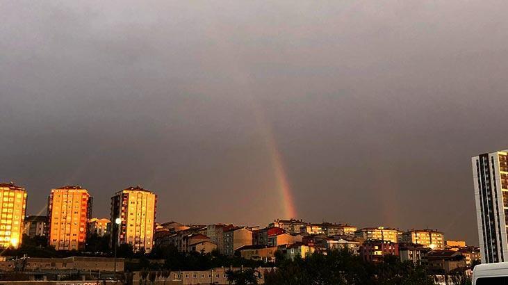 İstanbul'da gökkuşağı sürprizi!