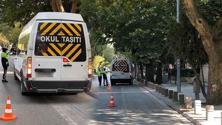 Emniyet Genel Müdürlüğü açıkladı! 159 okul servisi trafikten menedildi