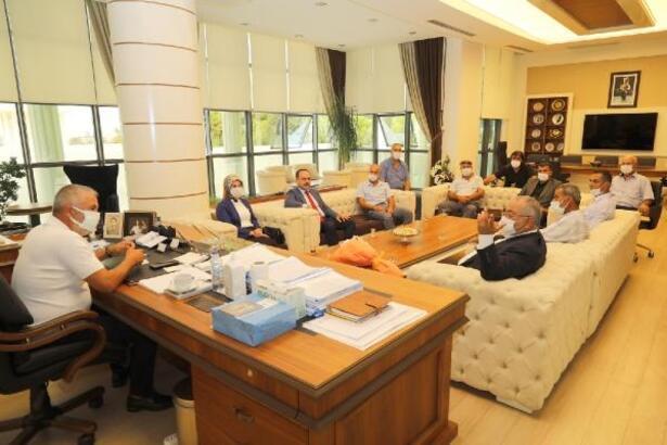 Manavgatlı muhtarlardan Başkan Sözen'e ziyaret
