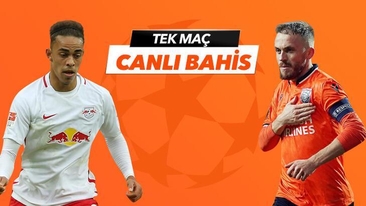 RB Leipzig - Başakşehir maçının heyecanı Tek Maç ve Canlı Bahis seçenekleriyle Misli.com'da