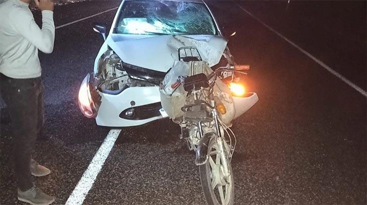 Feci kaza! Otomobil ok gibi saplandı