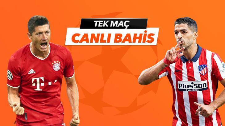 Bayern Münih - Atletico Madrid maçı Tek Maç ve Canlı Bahis seçenekleriyle Misli.com'da