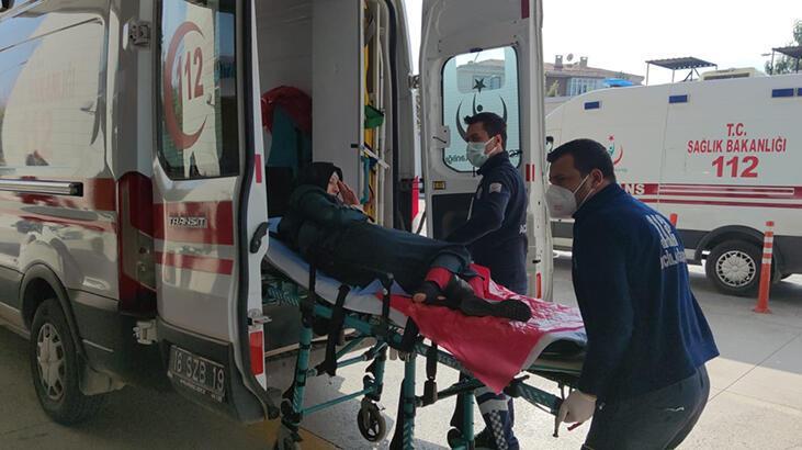 Epilepsi nöbeti geçirince bisikletten yola düşen hamile kadın yaralandı