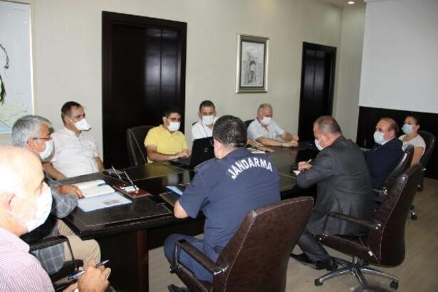 Manavgat'ta koronavirüsle mücadele toplantısı