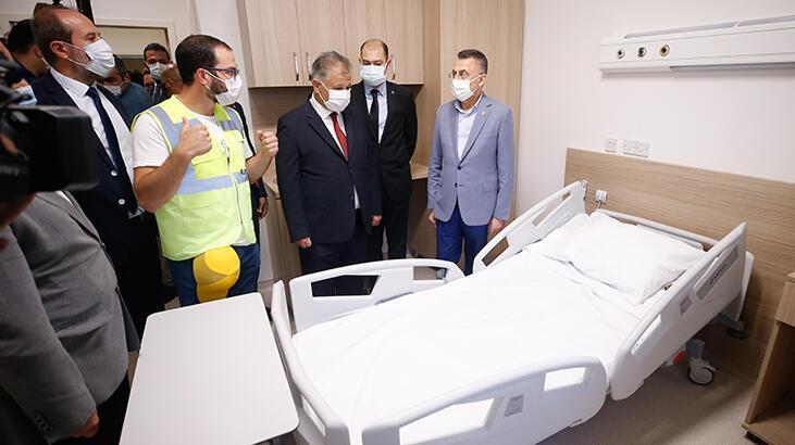Cumhurbaşkanı Yardımcısı Oktay'dan KKTC Acil Durum Hastanesi'ne  ziyaret