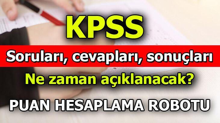 KPSS Ön Lisans Sınavı Temel Soru Kitapçığı ve Cevap Anahtarı Yayımlandı! ÖSYM giriş