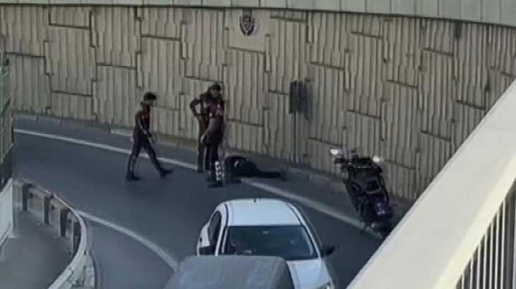 Polisten kaçtı, 5 metreden atladı, ayağını kırdı
