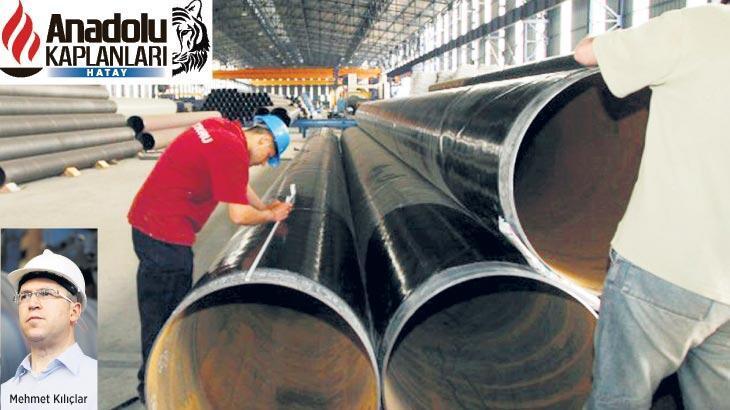 Akdeniz'den 3 kıtaya çelik boru üretiyor