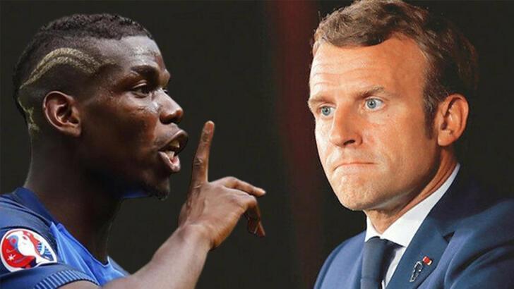 Paul Pogba, Macron'un skandal açıklamasına tepki gösterdi!