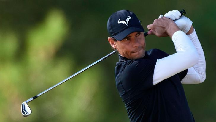 İspanyol tenisçi Rafael Nadal golfte de iddialı
