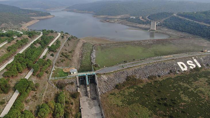Alibeyköy Barajı'nda sular çekildi! Ortaya çıktı...