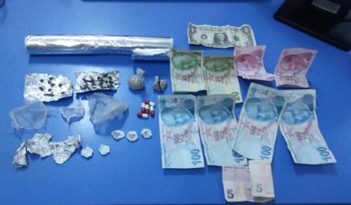 Dinar'da uyuşturucu operasyonuna 2 tutuklama