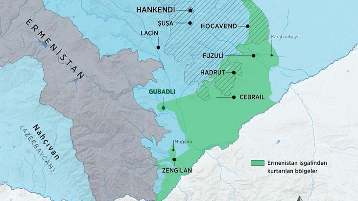 Azerbaycan 13 köyü daha Ermenistan'ın işgalinden kurtardı