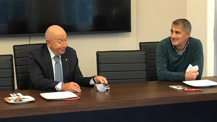 TFF Başkanı Nihat Özdemir, Şenol Güneş'le bir araya geldi