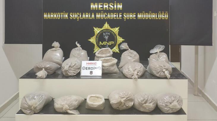 Mersin'de 55,5 kilo eroin ele geçirildi!