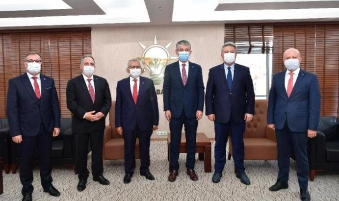 Kayseri'de belediye başkanlarından AK Parti İl Başkanına ziyaret