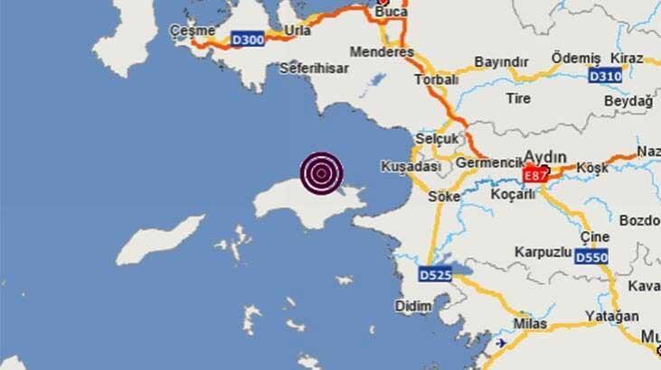 Son dakika I Kuşadası'nda 5.1 büyüklüğünde deprem