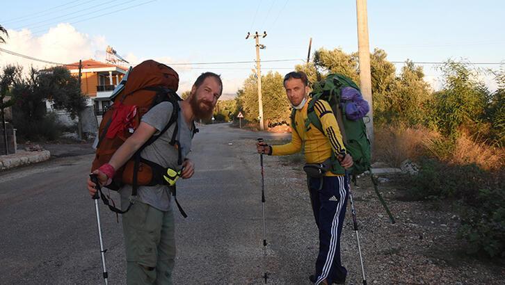 Ukraynalı üç arkadaş ikinci kez Likya Yolu'nda yürüyüşe çıktı