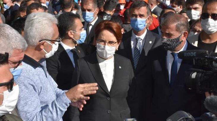 İYİ Parti Lideri Akşener, deprem bölgesinde