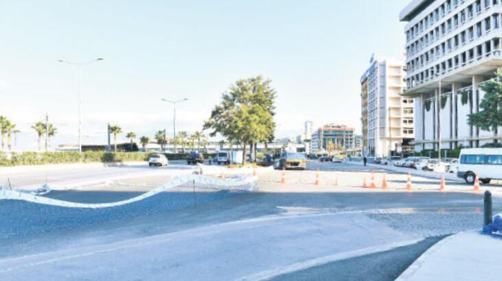 Konak'ta geçici trafik düzenlemesi