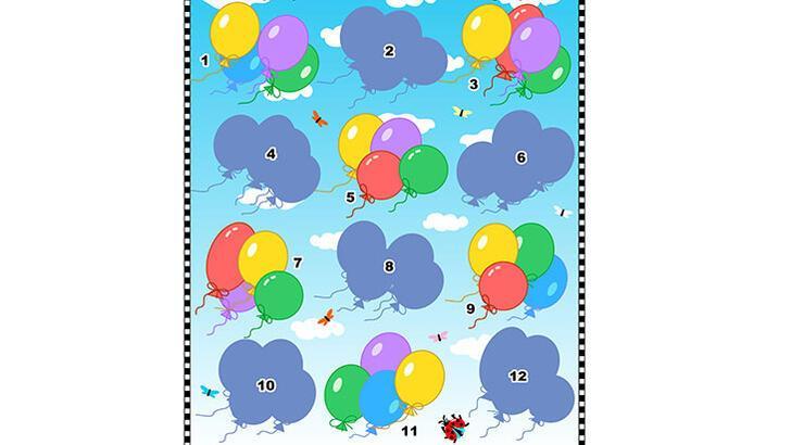 Balonların gölgeleri kayıp