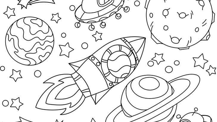 Uzayı boyama sayfası