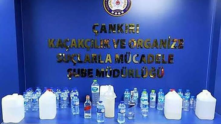 Çankırı'da 19,5 litre sahte içki ele geçirildi