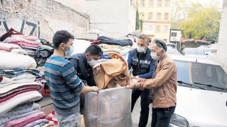 AFAD battaniyeleri Basmane'den çıktı