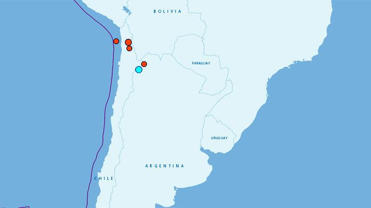 Şili'de 5.3 büyüklüğünde deprem