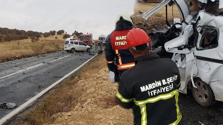 Mardin'de hafif ticari araç ve kamyon çarpıştı: 1 ölü, 2 yaralı