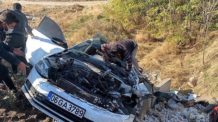 Adıyaman'da feci kaza! 1 ölü, 4 yaralı
