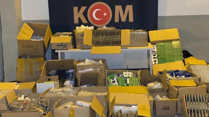Malatya'da 15 bin 486 kaçak cep telefonu aksesuarı ele geçirildi