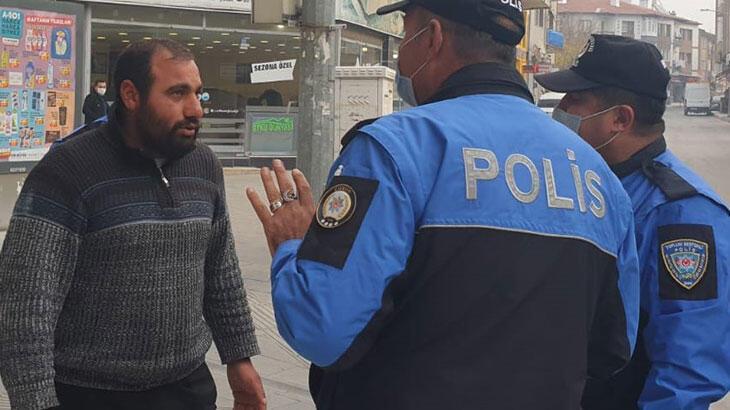 Maske takmadığı için ceza yedi, polislere 'Adam mı öldürdüm' dedi